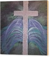 Healing In His Wings Wood Print