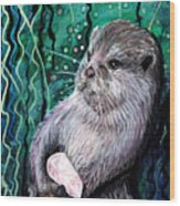 Healing Otter Wood Print