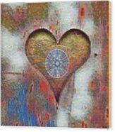 Healing The Heart Wood Print