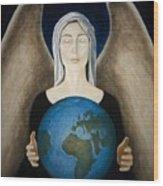 Healing The Planet Wood Print