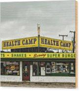 Health Camp Wood Print