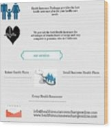 Health Insurance Exchange Online Wood Print