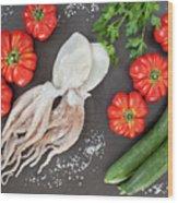 Healthy Diet Food Wood Print
