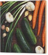 Healthy Vegetables Wood Print