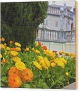 Hearst Gardens Wood Print