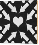 Heart And Arrows Wood Print