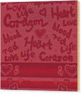 Heart Art Wood Print