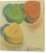 Heart Candy Wood Print