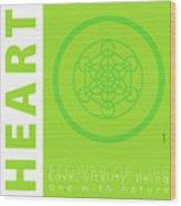 Heart Chakra Series Three Wood Print
