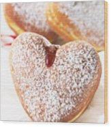 Heart Donuts Wood Print