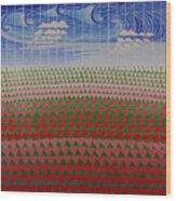 Heart Fields Wood Print