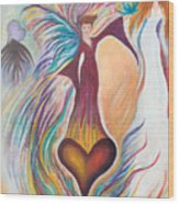 Heart Goddess Wood Print