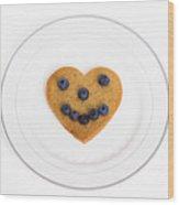 Heart Healthy Pancake Wood Print