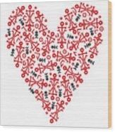 Heart Icon Wood Print