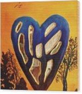 Heart In Glory Wood Print