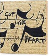 Heart Of A Star Wood Print