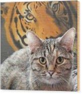 Heart Of A Tiger Wood Print