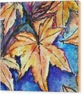 Heart Of Fall Wood Print