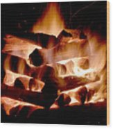 Heart Of Fire Wood Print