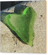 Heart Of Glass Wood Print