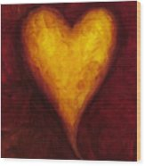 Heart Of Gold 1 Wood Print
