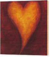 Heart Of Gold 2 Wood Print