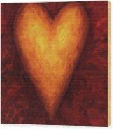 Heart Of Gold 3 Wood Print