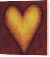 Heart Of Gold 4 Wood Print