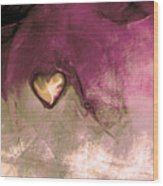 Heart Of Gold Wood Print