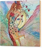 Heart Of Her World Wood Print