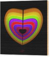 Heart Of Ochre Wood Print