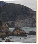 Heart Of The Bixby Bridge Wood Print