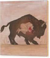 Heart Of The Buffalo Wood Print