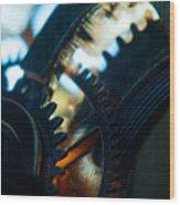 Heart Of The Machine - Time Wood Print
