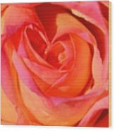 Heart Of The Rose Wood Print