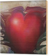 Heart Of The Sunrise Wood Print