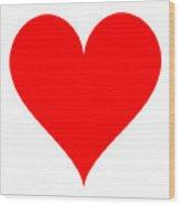 Heart Shape Template Wood Print