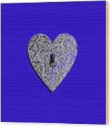 Heart Shaped Lock .png Wood Print