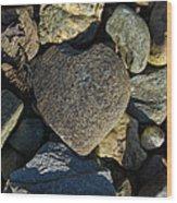 Heart Shaped Stone Loch Fyne  Wood Print