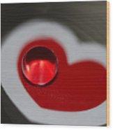 Heart Throb Wood Print by Rebecca Cozart