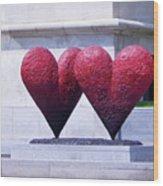 Heart To Heart Wood Print