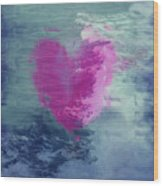 Heart Waves Wood Print