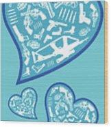 Heartbeats Wood Print