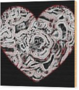 Heartline 1 Wood Print