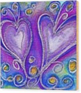 Hearts 1 Wood Print