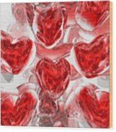 Hearts Afire Abstract Wood Print
