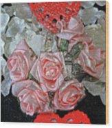 Hearts And Roses Wood Print
