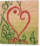 Hearts Wood Print