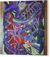 Hearts Drum 2 Wood Print