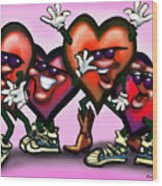 Hearts Gang Wood Print